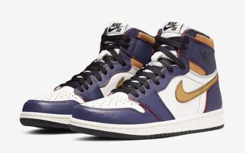 """耐克联名乔丹高帮篮球鞋Nike SB x Air Jordan 1""""LA to Chicago""""即将补货! 货号:CD6578-507"""