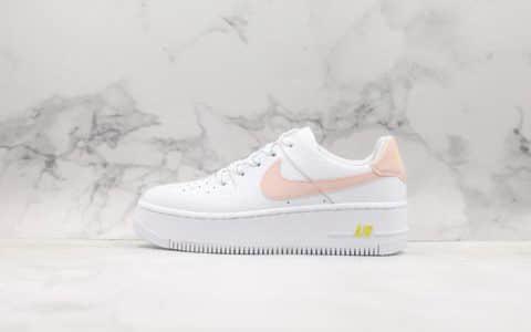 耐克Nike Air Force 1 SAGE LOW LX公司级版本耐克空军低帮全新女款增高厚底空军板鞋 货号:CI9094-100