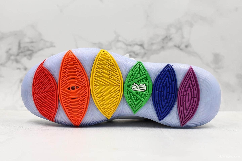 耐克Nike Kyrie 5 True EP Betrue欧文5代彩虹勾实战篮球鞋纯原版本内置Zoom气垫原厂欧斯莱缓震 货号:CH0521-117