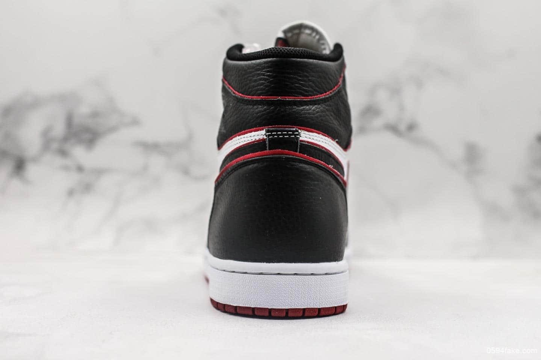乔丹Air Jordan 1 RETRO HIGH OG AJ1新黑红描边VG纯原版本高帮AJ1区别市面通货版本原厂STAR 货号:555088-062
