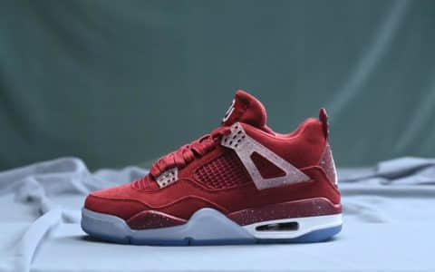 耐克Air Jordan 4 Retro Oklahoma Sooners PE乔丹4代纯原版本原楦原档案开发还原ZP所有细节进口高丝麂皮鞋面支持实战篮球鞋 货号:AJ4-1032076