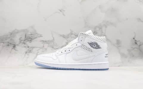 耐克Nike Wmns Air Jordan 1 Mid Unite Totale乔丹1代纯原版本复古经典中帮实战篮球鞋蓝白波点透明水晶底 货号:CI9100-100