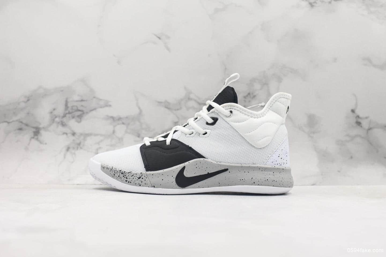 耐克Nike PG3 EP保罗乔治三代纯原版本Zoom气垫实战篮球鞋 货号:AO2608-101