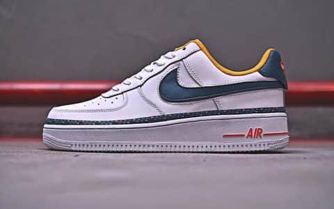 耐克Nike Air Force 1'07 Lv8公司级版本空军一号串标休闲板鞋内附红蓝两幅鞋带内置气垫 货号:CD7339-100