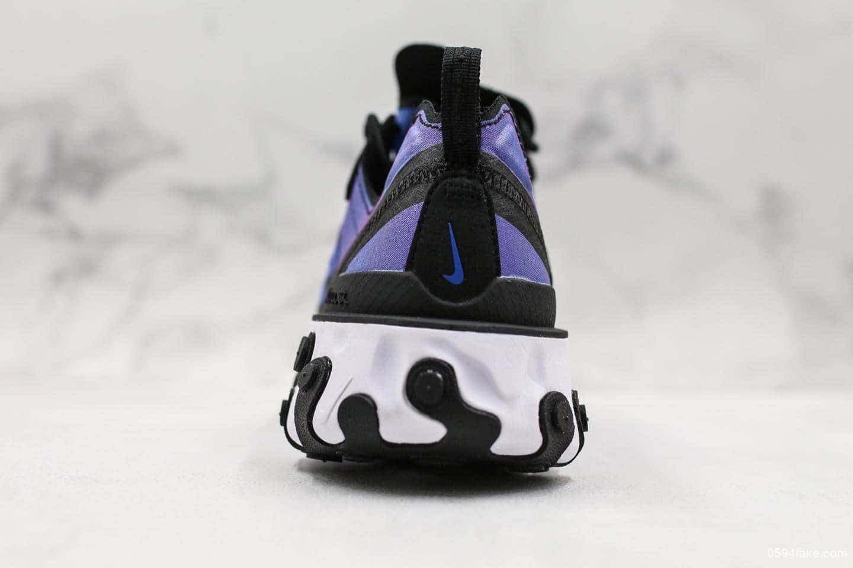 耐克Nike React Element 55 PRM SU19公司级高桥盾机能跑鞋透气薄纱面料运动休闲跑鞋 货号:BQ9241-002