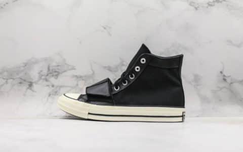 匡威Neighborhood x Converse Chuck Taylor 70s Hi联名款高帮硫化板鞋魔术贴高黑白真标品质明星同款 货号:158602C