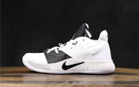 耐克Nike PG3 EP保罗三代公司级黑白斑点实战篮球鞋原鞋开模原标原盒 货号:AQ2607-101