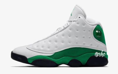"""清新白绿配色!Air Jordan 13""""Lucky Green""""将于2020年推出! 货号:414571-113"""