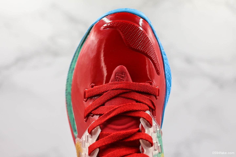 耐克SpongBob Squarepants x Nike Kyrie Low 2 Mr Krabs公司级版本欧文2代蟹老板痞老板红海绵宝宝主题系列实战篮球鞋 货号:CJ6953-600