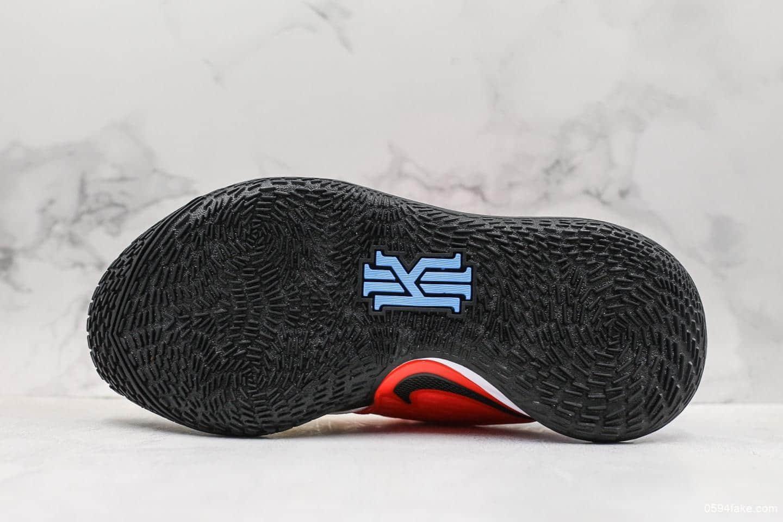 耐克Nike Kyrie Low 2公司级版本欧文2白色透气织物鞋身搭配鞋侧支撑片内置气垫实战篮球鞋 货号:AV6337-002