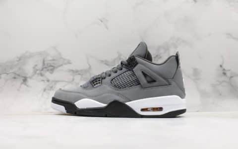 乔丹Air Jordan 4 Retro Cool Grey纯原版本AJ4酷灰配色原档案数据开发原盒原标实战篮球鞋 货号:308497-007