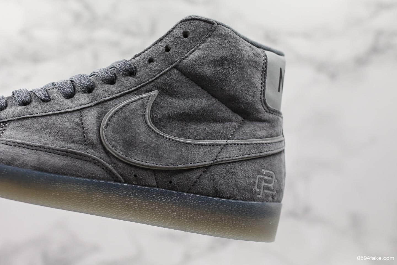 耐克Nike Blazer Mid Retro 3M公司级版本麂皮卫冕冠军高帮开拓者3M反光设计休闲板鞋 货号:371761-900