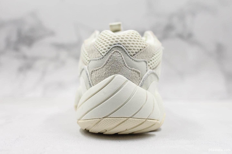 """阿迪达斯Adidas Yeezy 500 """"Bone White""""骨白OG纯原带半码 复古老爹鞋 进口皮料原厂阵线 货号:FV3573"""