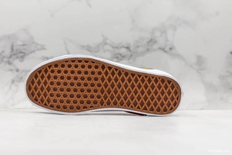 万斯Vans Old Skool红黄蓝鸳鸯不对称板鞋公司级带半码原厂硫化工艺原标原盒 货号:VN0A4BV5V3L