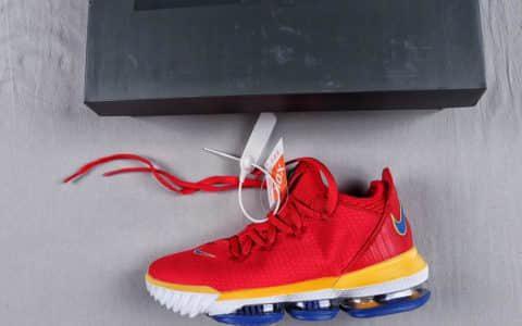 耐克Lebron superbron詹姆斯16代红超人纯原级版本詹姆斯实战高帮篮球鞋专柜同售 货号:CK2172-600