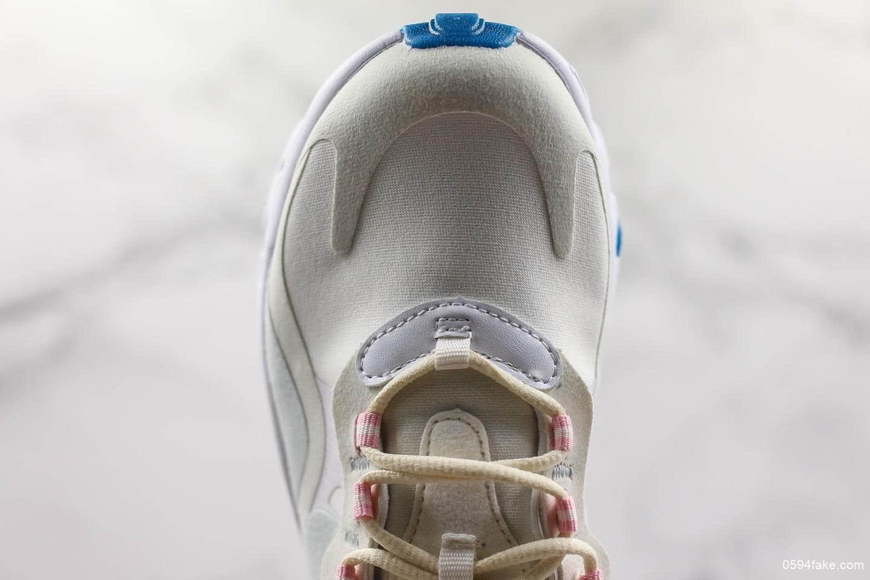 耐克Nike Air Max 270 React Bauhaus纯原版本正确白色反光鞋盒原鞋开模搭载React泡棉中底AirMax气垫休闲百搭运动鞋 货号:AO6174-100