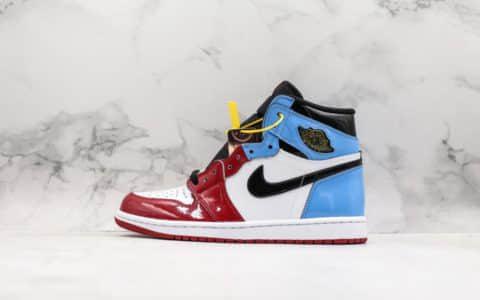 乔丹Air Jordan 1 Fearless纯原版本芝加哥结合北卡蓝配色乔丹名人堂实战篮球鞋 货号:CK5666-100