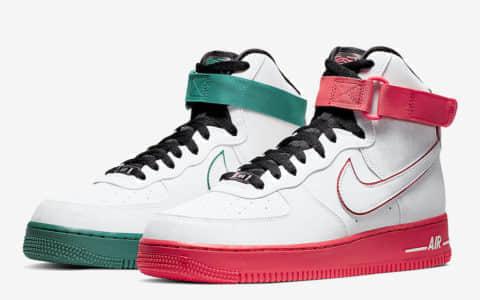 "鸳鸯配色个性十足!Nike Air Force 1 High""China Hoop Dreams""将于8月31日发售! 货号:CK4581-110"