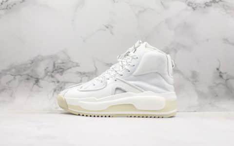 阿迪达斯adidas x Y-3 Hokori White White纯原版本山本耀司骄傲厚底系列中帮复古篮球运动风百搭休闲增高板鞋白米黄 货号:EF2635