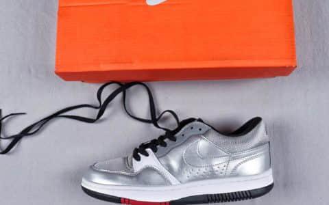 耐克Nike Court Force Low Premium公司级网球空军系列低帮复古经典休闲运动板鞋子弹银灰反光黑红底空军系列男鞋真标半码制 货号:314361-001