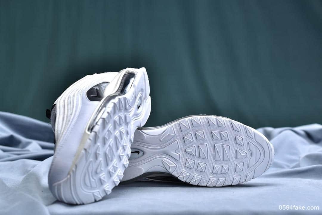 耐克Nike Air Max 97公司级版本子弹复古全掌气垫休闲运动鞋白熊猫 货号:921733-103