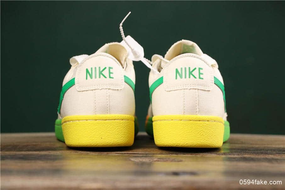 耐克Nike Blazer Bruin Low QS公司级版本彩虹果冻底低帮帆布休闲板鞋 货号:AA1057-103