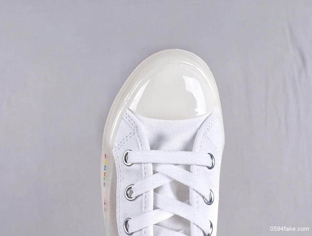 匡威 Converse All Star Light Clear Material HI 19SS真标果冻底高品质半透明高帮休闲板鞋 货号:165661C