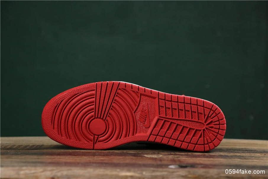 乔丹Air Jordan 1 Satin WMNS Black Toe原厂复刻AJ1丝绸扣碎TOP纯原版本丝绸黑脚趾 货号:CD0461-016