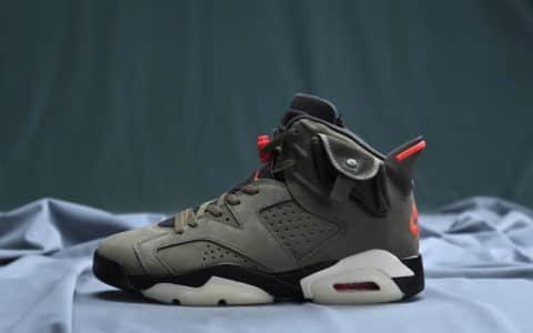 乔丹Travis Scott x Air Jordan 6联名款AJ6高帮男子实战篮球鞋纯原版本区别市面通货版本 货号:CN1084-200