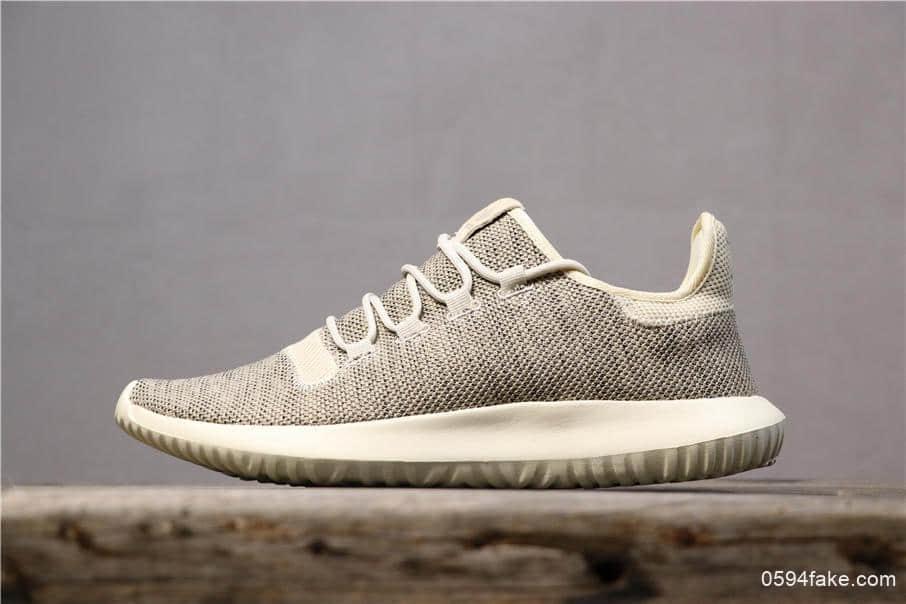 阿迪达斯Adidas Tubular Shadow真标高品质简版小椰子芝麻灰时尚透气休闲鞋 货号:BB8824