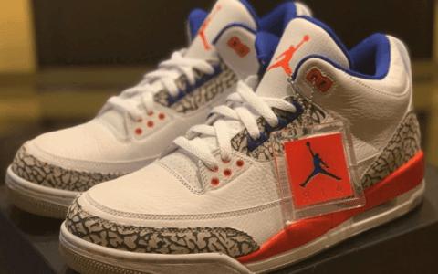 "Nike Air Jordan 3""Knicks""发售日期提前!只有半个月的时间! 货号:136064-148"