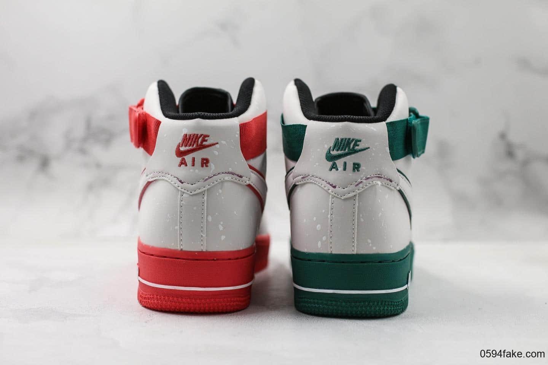耐克Nike Air Force 1纯原版本世界篮球杯红绿鸳鸯全鞋身采用的是Micro Fiber 超纤反光材质原楦头原纸板打造内置气垫 货号:CK4581-110