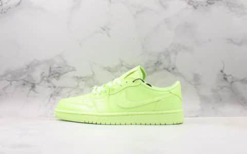 耐克Nike Wmns Air Jordan 1 Ret Hi Prem纯原版本低帮AJ1反光荧光绿柠檬绿时尚运动篮球板鞋 货号:CJ7891-700