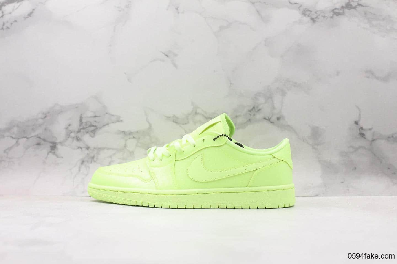 耐克Nike Wmns Air Jordan 1 Ret Hi Prem纯原版本低帮AJ1反光荧光绿柠檬绿时尚运动篮球