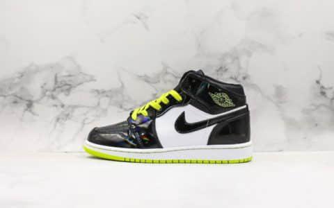 乔丹Air Jordan 1 Mid SE GS Metallic纯原版本AJ1乔丹一代中帮经典复古文化休闲运动篮球鞋变色龙黑绿漆皮 货号:BQ6931-003