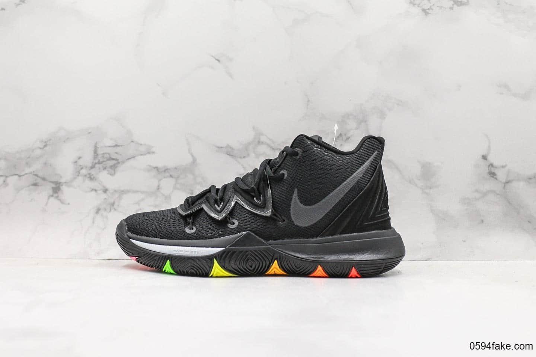 耐克Nike Kyrie 5公司级版本欧文5代实战篮球鞋黑红原楦版本原盒原标全新的包裹系统设计真半码磨具制作 货号:AO2919-001