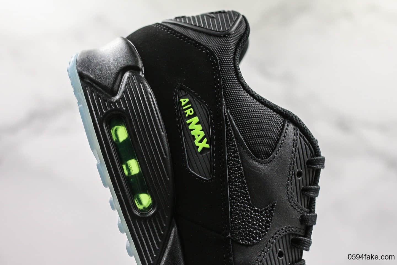 """耐克Nike Wmns Air Max 90 SE""""Day teal tint""""黑绿复古气垫运动慢跑鞋公司级带半码 正确Air气垫+PU高弹大底 货号:AQ6101-001"""