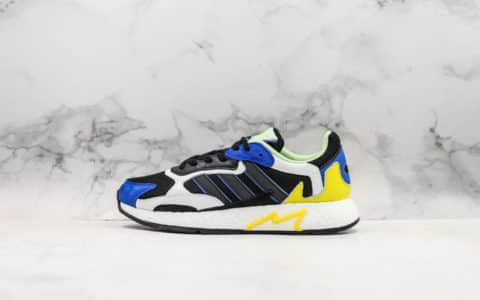阿迪达斯Adidas Tresc Run Boost火焰爆米花跑鞋网布搭配麂皮拼接打造鞋面全掌Boost科技 货号:FV4710