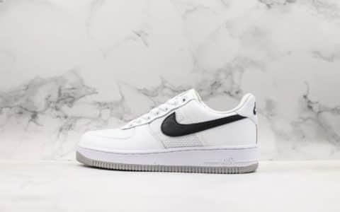 耐克Nike Air Force 1 07 Transparent Mesh Pack公司级版本空军一号经典低帮百搭休闲运动板鞋白拼接网面黑灰 货号:CI0060-101