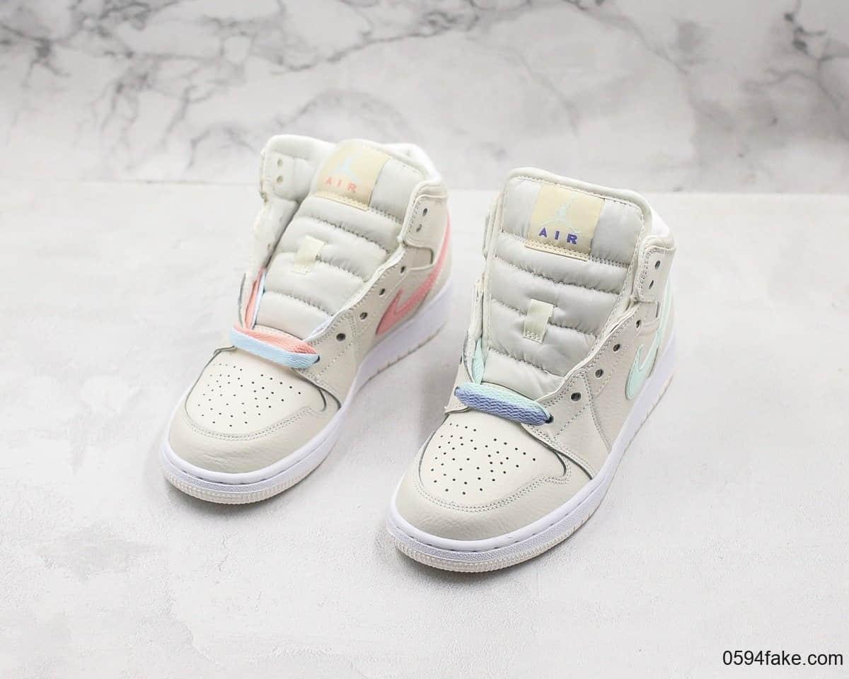 乔丹Air Jordan 1 Mid GS四色鸳鸯彩带公司级版本中帮百搭篮球鞋原装进口皮料原楦成绩版本 货号:555112-035