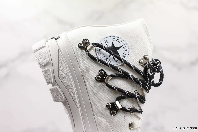 匡威Converse x Eastwood Danso联名款登山靴白色高奢小红书爆款户外鞋靴公司级
