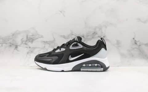 耐克Nike Air Max 200复古气垫鞋休闲跑步鞋黑白公司级官方同步二维码鞋标原盒原标区分通货 货号:BV5485-008