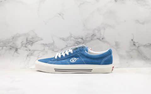 万斯Vans Sid DX安娜海姆系列低帮休闲板鞋蓝色翻毛皮公司级带半码原厂档案开发