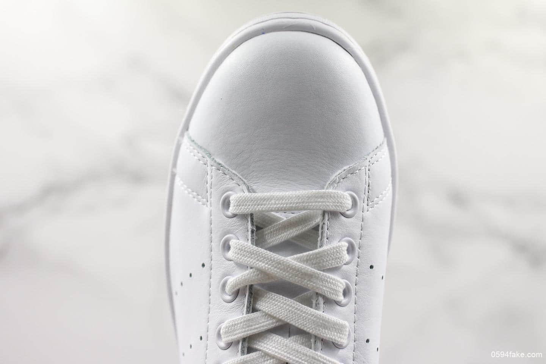 阿迪达斯Adidas Stan Smith法国限定史密斯纯原版本彩旗尾软头层荔枝纹全新配色休闲百搭小白鞋 货号:BD7433
