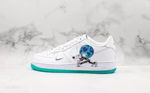 耐克Nike Air Force 1 Earth Day Pack地球日白绿蓝鸳鸯底休闲运动板鞋公司级版本原盒原材正确双色果冻底 货号:CI5545-100