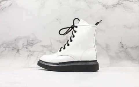 麦昆Mc Queen Cool Girl厚底马丁靴新款19秋冬新款增高系带短靴品牌首款高筒鞋