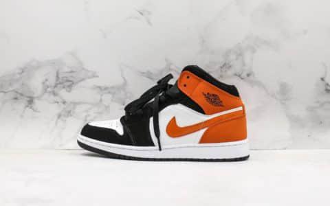 乔丹Air Jordan 1 Mid AJ1乔1中帮小扣碎中性文化篮球鞋全新批次原档案数据开发 货号:554724-058