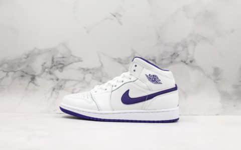 耐克Nike Air Jordan 1 Mid纯原版本乔丹中帮AJ1原盒原标正确中底区别市面尝鲜版本 货号:332148-137