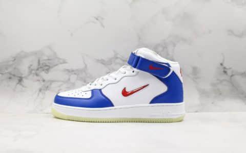 耐克Nike Air Force 1 High GS纯原版本空军一号红色小勾系列原盒配件中底钢印俱全全掌内置气垫 货号:596728-302