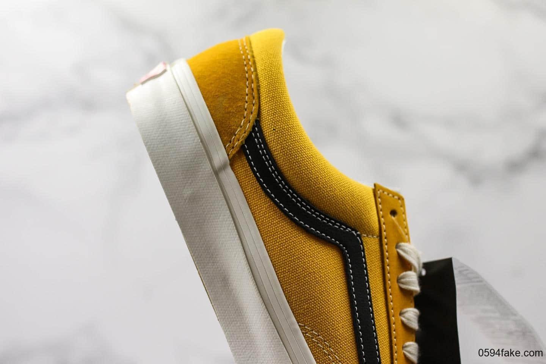 万斯Vault OG Style 36 LX真标硫化版本全新配色黑黄小头高端支线情侣滑板鞋 货号:VN0A4BVEVZ6
